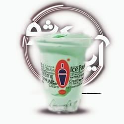 بستنی آیس پک بزرگ طالبی کرمان